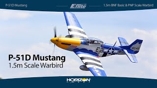 Load Video 1:  E-flite P-51D Mustang 1.5m BNF Basic