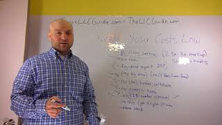 Keep Your LLC Formation & Filing Cost Low - Cheapest Way to Create a Limited Liability Company Video