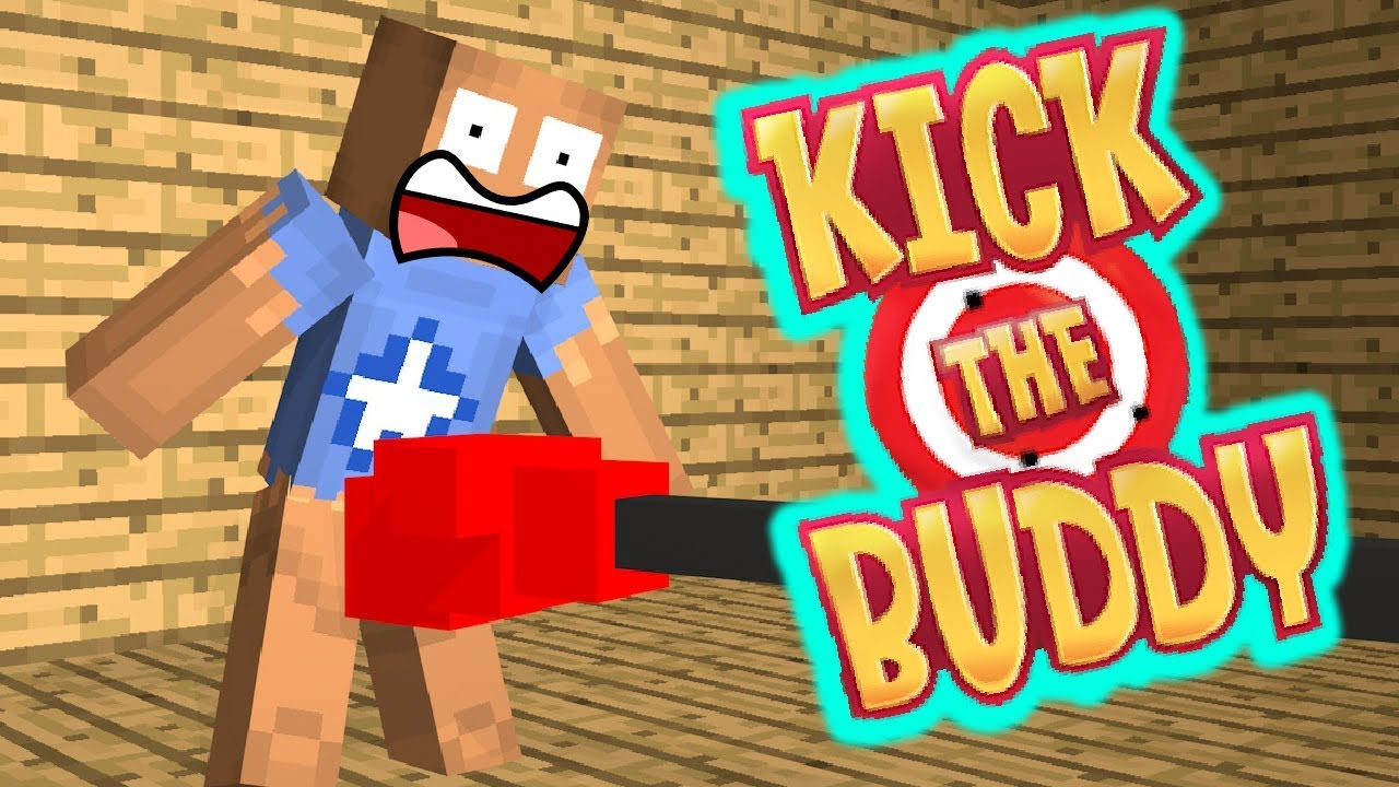 Monster School : KICK THE BUDDY  - Minecraft Animation