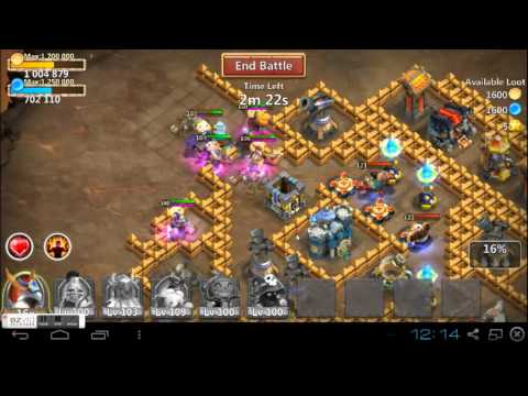 Castle clash dungeon 4 tutorial 15 shards farming youtube