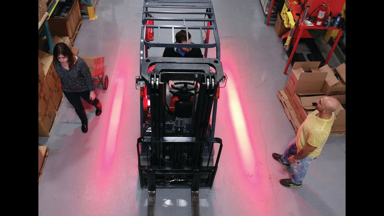 Red Zone Forklift Danger Zone Warning Light Youtube
