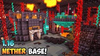 Minecraft 1.16 Nether Base Timelapse & Tutorial (World Download)