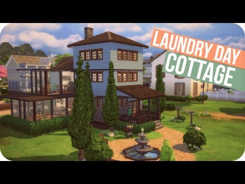 FRENCH COTTAGE | Sims 4 Speed Build - Base Game and Laundry Day ONLY