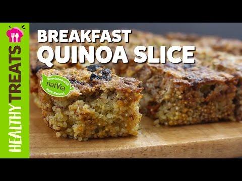 Healthy Breakfast Quinoa Slice – Natvia's Healthy Treats & Dessert Recipes