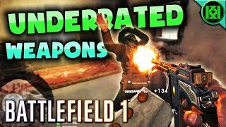 Battlefield 1: UNDERRATED WEAPONS | 12 Underused Guns in BF1