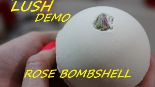 Lush Cosmetics ROSE BOMBSHELL Bath Bomb DEMO + Underwater View Mother