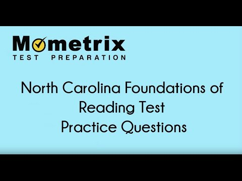 North Carolina Foundations Of Reading Test Practice Questions Youtube