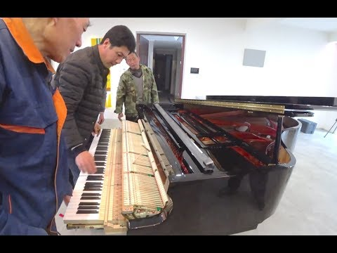 Feurich grand piano delivery in Qingdao China