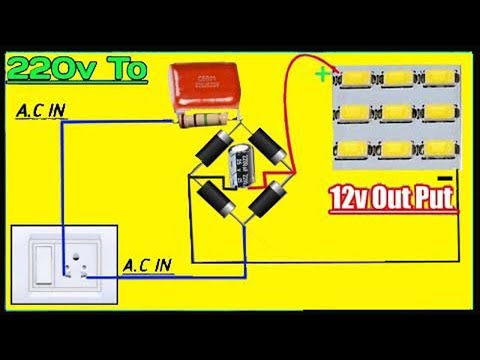 How To Connect 12v Led To 220v AC