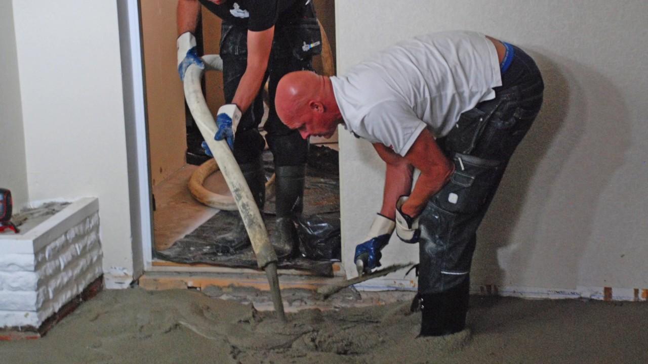 EPSCement &  Sofias änglar lägger isolerande källargolv