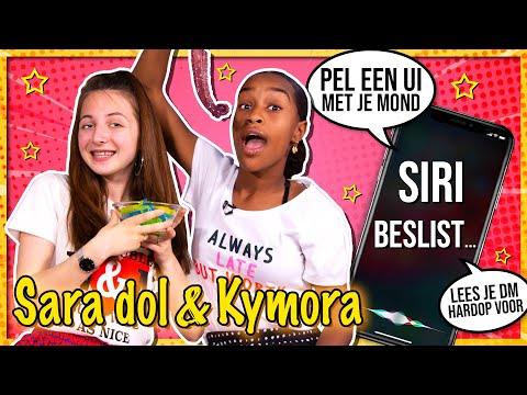 SIRI BESLIST CHALLENGE 💬 met KYMORA & SARA DOL