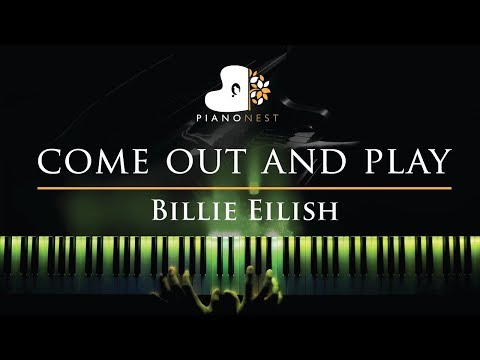 Billie Eilish - come out and play - Piano Karaoke  Sing Along Cover with
