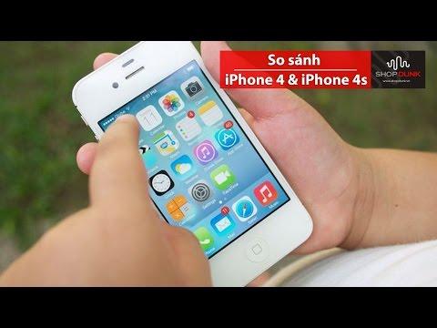 So sánh sản phẩm iPhone 4 vs 4S - ShopDunk