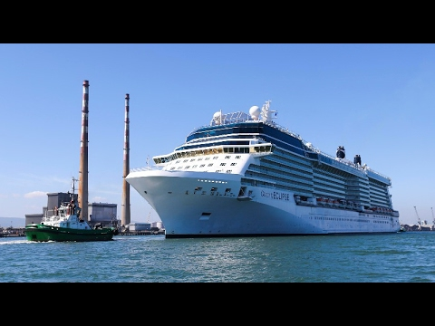 WATCH - Twice as long as Croke Park: 2,850-passenger cruise ship sails into Dublin