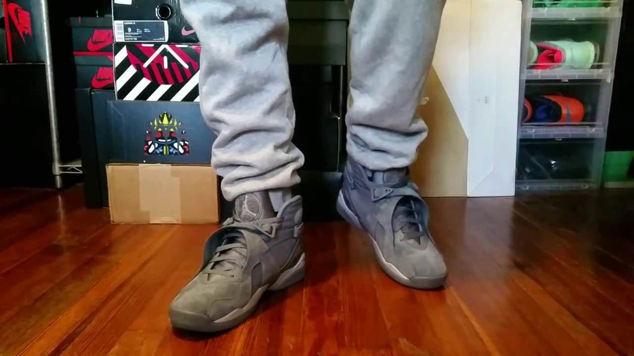 83698932a24 AIR JORDAN 8 COOL GREY REVIEW + ON FEET - YouTube