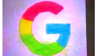 How to Draw realistic Google logo | Logo Drawing