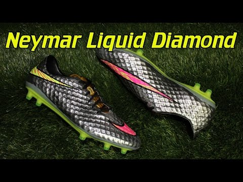 sports shoes 09982 7958c Neymar Nike Hypervenom Phantom Liquid Diamond - Review + On ...