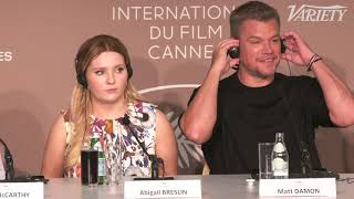 Matt Damon on 'Stillwater' and  His Trump-Supporting Character - Cannes Press Conference