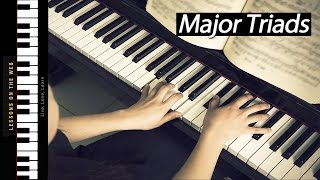 How to Play Major Triads - Learning Chords on Piano Mp3