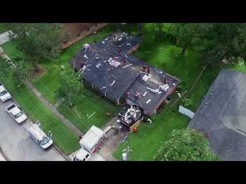 A.J. Wells Roofing Contractors Jacksonville Florida Roof Replacement Services drone hero montage