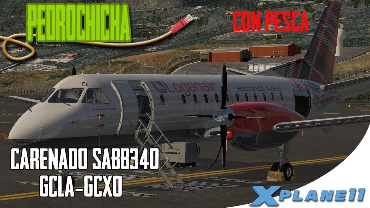 [X Plane 11] CARENADO SAAB 340 COMPARATIVA CON XAVIATION | PUESTA EN MARCHA  Y NAVEGACION ESPAÑOL