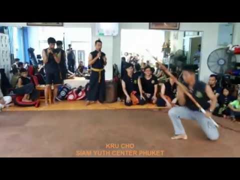 ไหว้ครู มวยไทยไชยา อาวุธไทย บ้านครูแปรง 2558