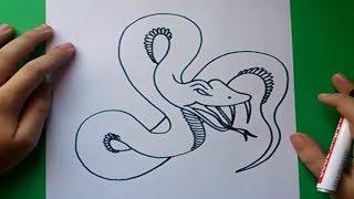 Como dibujar una serpiente paso a paso 6 | How to draw a snake 6