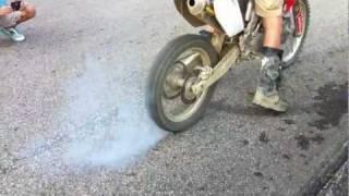 Crf250r dirt bike burnout
