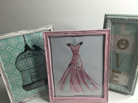 DIY Distressed Picture Frames