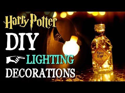 DIY Harry Potter Lighting Decorations with Oak Leaf LED Lights!