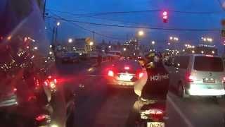 Обучение езде на мотоцикле по городу