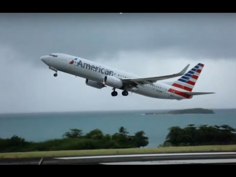 American Airlines Grenada Take off with ATC Recording