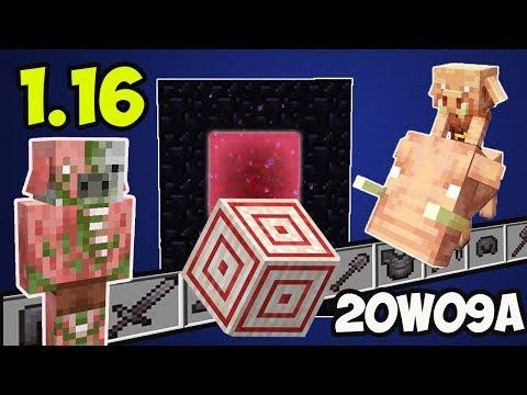 Обзор Minecraft 1.16 (Обзор Майнкрафт 1.16) #04 20W09A - МИШЕНЬ, ЗОМБИ ПИГЛИНЫ И НОВЫЙ ОБСИДИАН