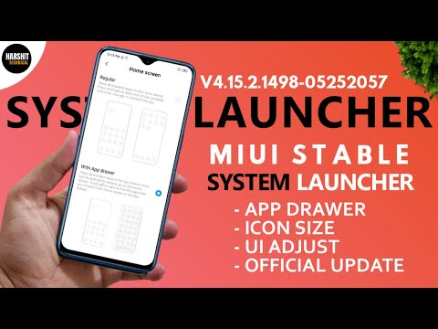 [OFFICIAL] MIUI System Launcher New Update | App Drawer & Icon Size | OTA Update MIUI 11 SYSTEM
