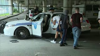 Raw video: Vandals target Miami Police Department vehicles during protest