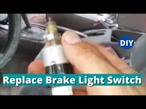 How to Remove, Test and Replace Brake Light Switch - Toyota Corolla