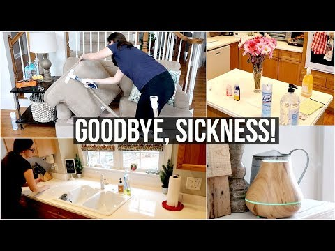 CLEANING + DISINFECTING After Sickness | Cleaning Motivation
