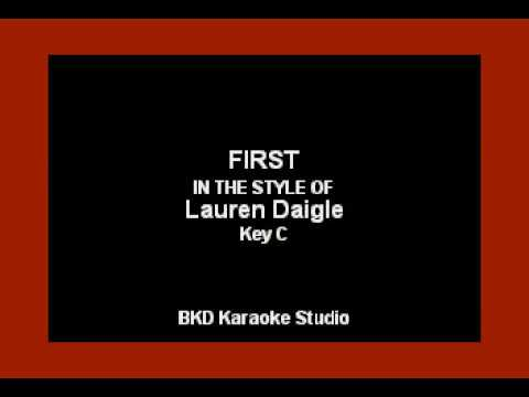 First (In the Style of Lauren Daigle) (Karaoke with Lyrics)