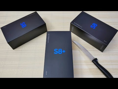 Galaxy S8 and S8 Plus Triple Unboxing! All US Colors! (4K)