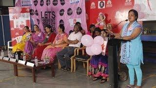 Chennai Turns Pink @ SSS Jain College for Women   Kala Master   Brinda - BW
