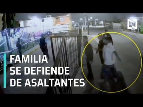 Familia se defiende en Coacalco | Motociclista dispara a familia en Coacalco - En Punto