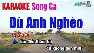 Dù Anh Nghèo Karaoke ( Song Ca ) Beat Cha Cha - Nhạc Sống Thanh Ngân