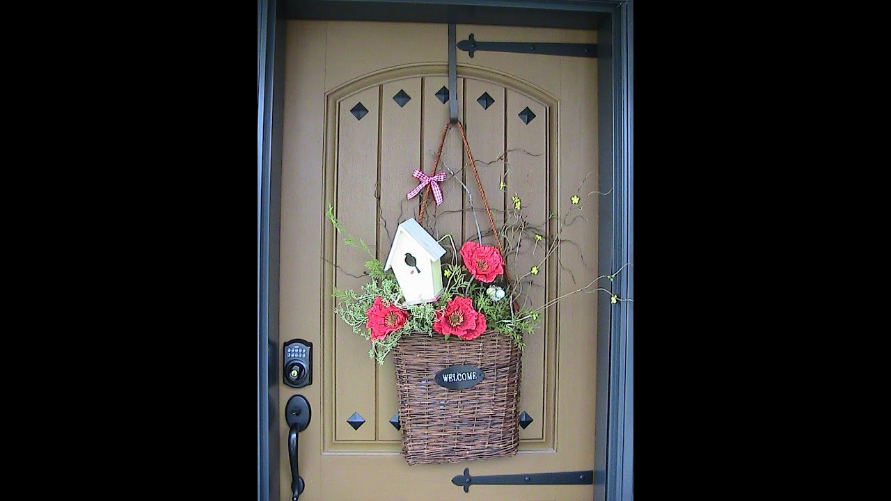 Spring Front Door Welcome Basket