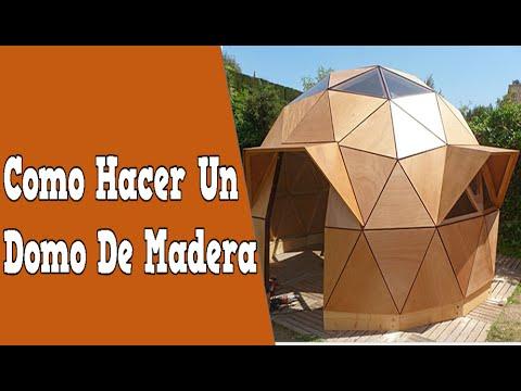 Como hacer un domo de madera casas con domos conectores for Como construir piletas de natacion de material
