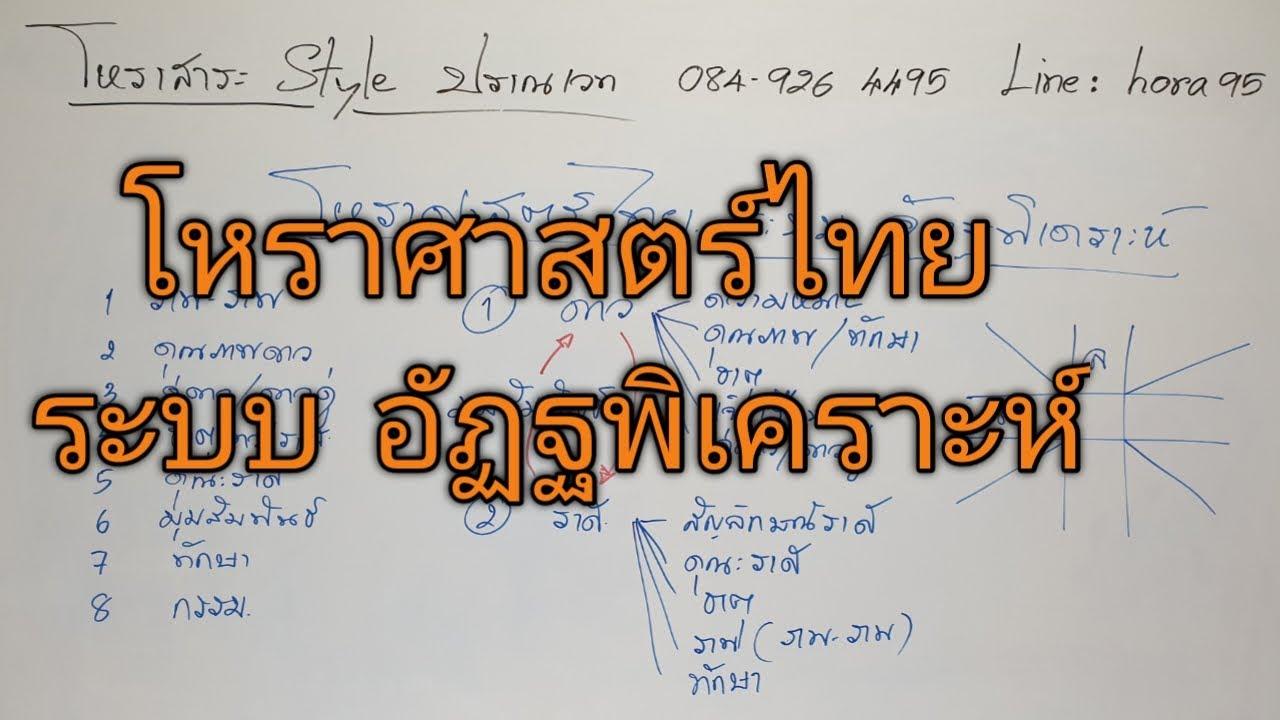 โหราศาสตร์ไทย ระบบ อัฏฐพิเคราะห์