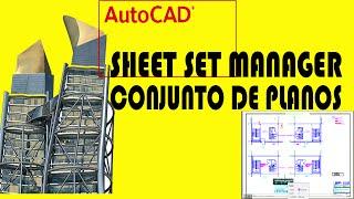 Conjunto de Planos ,Sheet Set Manager:Curso Autocad 2018