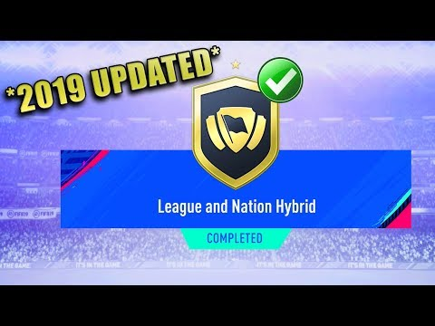 LEAGUE AND NATION HYBRID SBC CHEAPEST SOLUTION (*Updated*) | SQUAD BUILDING CHALLENGE | FIFA 19