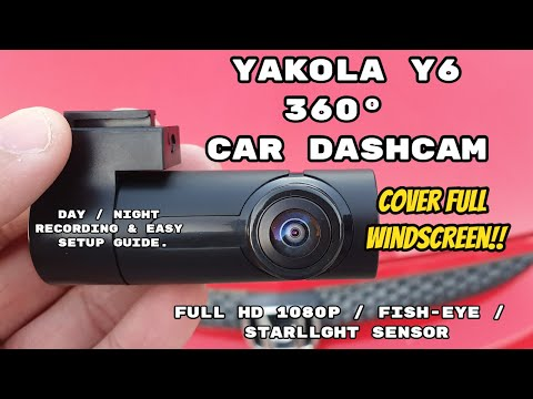 Finally!!  Yakola Y6 360° - Best 360° Dashcam You Can Buy! - Unboxing & Full Review!