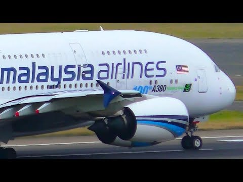 2 INCREDIBLE Malaysia Airlines Airbus A380 Landings & Takeoffs | Sydney Airport Plane Spotting