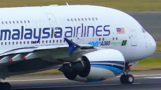 Top 10 Airlines - 2 INCREDIBLE Malaysia Airlines Airbus A380 Landings & Takeoffs | Sydney Airport Plane Spotting